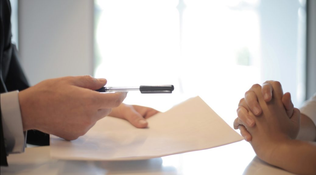 Woman applying for a personal loan